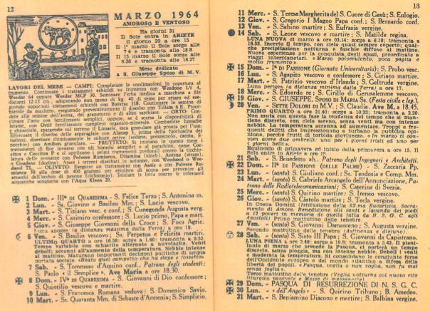 Barbanera marzo 1964
