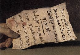 13 juillet 1793 David Marat