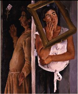 Fausto Pirandello, Donne con salamandra, 1928-30, c. p.