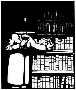 VALLOTTON_1911_Bibliophile_woodcut-620x732