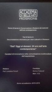 tesi Accademia Frosinone